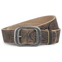 styleBREAKER soft buffalo leather belt embossed, jeans belt, shortened 03010027 – Bild 5