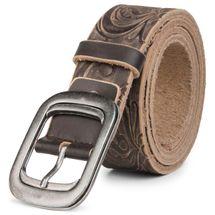 styleBREAKER weicher Gürtel aus beschichtetem Spaltleder mit Prägung, Jeansgürtel, kürzbar, Unisex 03010027 – Bild 7