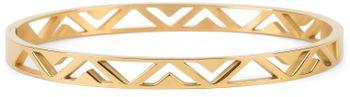 styleBREAKER Damen Edelstahl Armreif mit dreieckigen Cutouts im Azteken Style, Clipverschluss Armband, Schmuck 05040168 – Bild 14