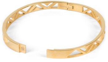 styleBREAKER Damen Edelstahl Armreif mit dreieckigen Cutouts im Azteken Style, Clipverschluss Armband, Schmuck 05040168 – Bild 17