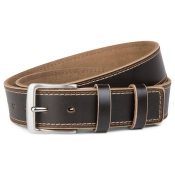 styleBREAKER jeans belt made ??of genuine leather with decorative stitching, shortened 03010028 – Bild 3