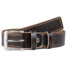 styleBREAKER jeans belt made ??of genuine leather with decorative stitching, shortened 03010028 – Bild 4