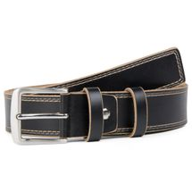 styleBREAKER jeans belt made ??of genuine leather with decorative stitching, shortened 03010028 – Bild 2