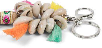 styleBREAKER Damen Quasten Schlüsselanhänger mit Muscheln, Taschenanhänger, Karabiner, Befestigungsring 05050075 – Bild 5