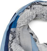 styleBREAKER Damen Schal mit Schlangen Muster Print, Color Blocking Farbflächen und Fransen, Tuch 01016177 – Bild 14