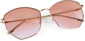 styleBREAKER Damen Piloten Sonnenbrille mit fünfeckigen Gläsern, getönten Polycarbonat Gläsern und Metall Gestell, Retro Brille 09020103 – Bild 2