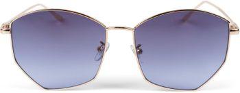 styleBREAKER Damen Piloten Sonnenbrille mit fünfeckigen Gläsern, getönten Polycarbonat Gläsern und Metall Gestell, Retro Brille 09020103 – Bild 17