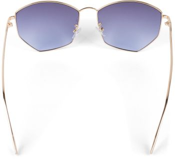 styleBREAKER Damen Piloten Sonnenbrille mit fünfeckigen Gläsern, getönten Polycarbonat Gläsern und Metall Gestell, Retro Brille 09020103 – Bild 20