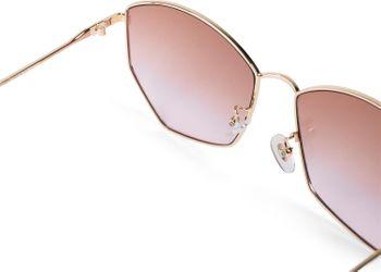 styleBREAKER Damen Piloten Sonnenbrille mit fünfeckigen Gläsern, getönten Polycarbonat Gläsern und Metall Gestell, Retro Brille 09020103 – Bild 5