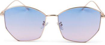 styleBREAKER Damen Piloten Sonnenbrille mit fünfeckigen Gläsern, getönten Polycarbonat Gläsern und Metall Gestell, Retro Brille 09020103 – Bild 10
