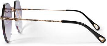 styleBREAKER Damen Piloten Sonnenbrille Rahmenlos mit getönten Gläsern im Diamant Schliff, Geprägte Bügel, Vieleckige Gläser 09020106 – Bild 17