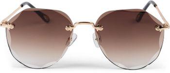 styleBREAKER Damen Piloten Sonnenbrille Rahmenlos mit getönten Gläsern im Diamant Schliff, Geprägte Bügel, Vieleckige Gläser 09020106 – Bild 2