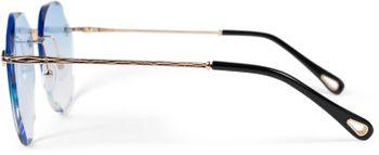 styleBREAKER Damen Piloten Sonnenbrille Rahmenlos mit getönten Gläsern im Diamant Schliff, Geprägte Bügel, Vieleckige Gläser 09020106 – Bild 10