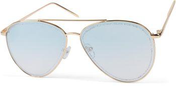 styleBREAKER Damen Piloten Sonnenbrille mit Glitzer Highlights im Glas, getönte Polycarbonat Gläser und Metall Gestell, Pilotenbrille 09020107 – Bild 17
