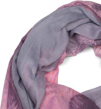 styleBREAKER Damen Schal mit Streifen Struktur Muster Print und Fransen, Tuch 01016180 – Bild 2