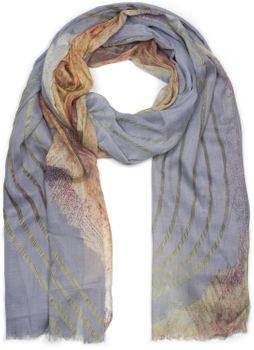 styleBREAKER Damen Schal mit Streifen Struktur Muster Print und Fransen, Tuch 01016180 – Bild 1
