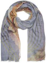 styleBREAKER Damen Schal mit Streifen Struktur Muster Print und Fransen, Tuch 01016180 – Bild 4