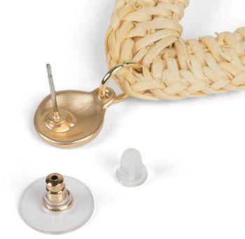 styleBREAKER Damen Statement Ohrringe mit Bast Anhänger, Muscheln, Quaste und Perlen mit Stecker, Ohrhänger, Ohrschmuck 05090012 – Bild 8
