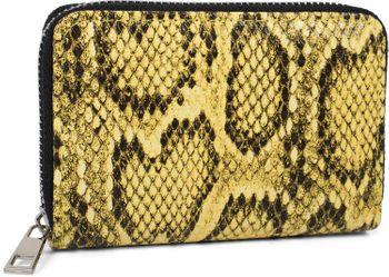 styleBREAKER Damen Mini Geldbörse mit Schlangen Muster, Reißverschluss, Portemonnaie 02040127 – Bild 5