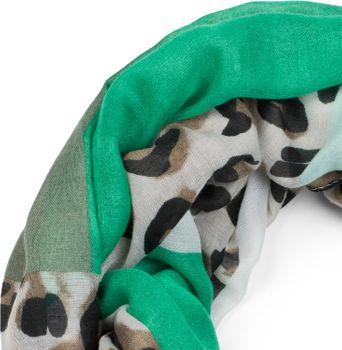 styleBREAKER Damen Loop Schal mit Leoparden Animal Print Muster und Color Blocking Farbflächen, Schlauchschal, Tuch 01016182 – Bild 8