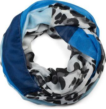 styleBREAKER Damen Loop Schal mit Leoparden Animal Print Muster und Color Blocking Farbflächen, Schlauchschal, Tuch 01016182 – Bild 13