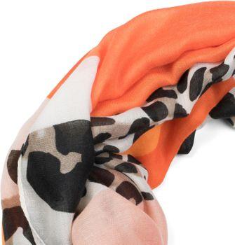 styleBREAKER Damen Loop Schal mit Leoparden Animal Print Muster und Color Blocking Farbflächen, Schlauchschal, Tuch 01016182 – Bild 17