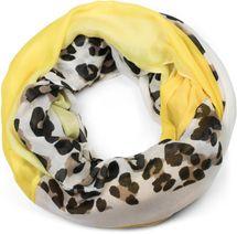 styleBREAKER Damen Loop Schal mit Leoparden Animal Print Muster und Color Blocking Farbflächen, Schlauchschal, Tuch 01016182 – Bild 10