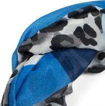 styleBREAKER Damen Loop Schal mit Leoparden Animal Print Muster und Color Blocking Farbflächen, Schlauchschal, Tuch 01016182 – Bild 14