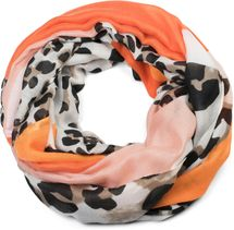 styleBREAKER women tube scarf with leopard animal print pattern and colour blocking patches, snood, shawl 01016182 – Bild 16