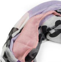styleBREAKER Damen Loop Schal mit Leoparden Animal Print Muster und Color Blocking Farbflächen, Schlauchschal, Tuch 01016182 – Bild 2