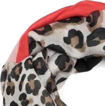 styleBREAKER women tube scarf with leopard animal print pattern and colour blocking patches, snood, shawl 01016182 – Bild 5