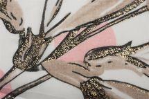 styleBREAKER Damen Schal mit Metallic Blumen Muster, Punkte und Fransen, Tuch 01016183 – Bild 12