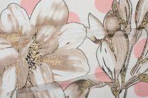 styleBREAKER Damen Schal mit Metallic Blumen Muster, Punkte und Fransen, Tuch 01016183 – Bild 11