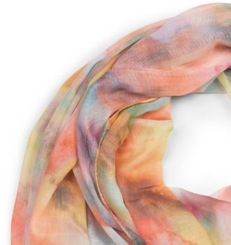 styleBREAKER women scarf with watercolour colour gradient and fringing, shawl 01016185 – Bild 8