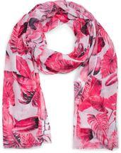 styleBREAKER Damen Schal mit Palmen Blätter Muster und Fransen, Tuch 01016186 – Bild 7