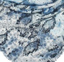 styleBREAKER Damen XXL Dreieckstuch mit Leoparden, Schlange und Palmen Muster Print mit Strass und Fransen, Schal, Tuch 01016188 – Bild 10