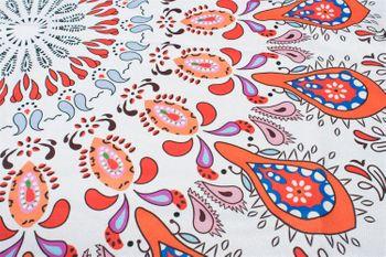 styleBREAKER rechteckiges Strandtuch mit Paisley Ornament Muster und PomPom Borte, Handtuch, Badetuch, Unisex 05050077 – Bild 4