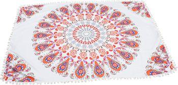 styleBREAKER rechteckiges Strandtuch mit Paisley Ornament Muster und PomPom Borte, Handtuch, Badetuch, Unisex 05050077 – Bild 2