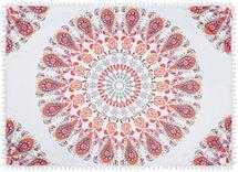 styleBREAKER rechteckiges Strandtuch mit Paisley Ornament Muster und PomPom Borte, Handtuch, Badetuch, Unisex 05050077 – Bild 1