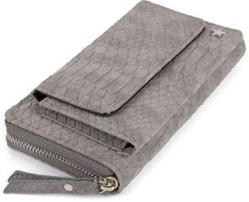 styleBREAKER Damen Portemonnaie in Krokodil Optik mit Handyfach, Reißverschluss, Geldbörse 02040129 – Bild 4