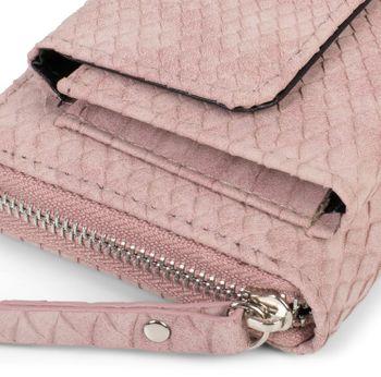 styleBREAKER Damen Portemonnaie in Krokodil Optik mit Handyfach, Reißverschluss, Geldbörse 02040129 – Bild 21