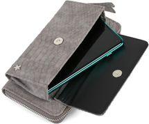 styleBREAKER Damen Portemonnaie in Krokodil Optik mit Handyfach, Reißverschluss, Geldbörse 02040129 – Bild 22