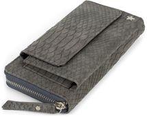 styleBREAKER Damen Portemonnaie in Krokodil Optik mit Handyfach, Reißverschluss, Geldbörse 02040129 – Bild 13