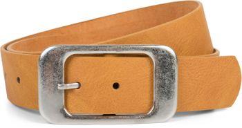 styleBREAKER Unisex Gürtel Unifarben mit großer rechteckiger Schnalle, kürzbar 03010100 – Bild 14