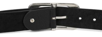 styleBREAKER Unisex Gürtel Unifarben mit großer rechteckiger Schnalle, kürzbar 03010100 – Bild 49