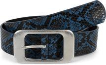 styleBREAKER Damen Gürtel in Schlangen Optik mit großer rechteckiger Schnalle, kürzbar 03010101 – Bild 9