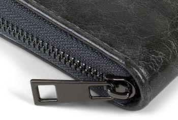 styleBREAKER Damen Mini Geldbörse mit Teddy-Fell Herz, Reißverschluss, Portemonnaie 02040130 – Bild 3