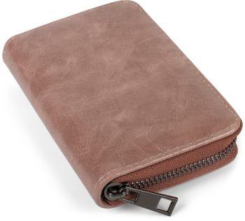 styleBREAKER Damen Mini Geldbörse mit Teddy-Fell Herz, Reißverschluss, Portemonnaie 02040130 – Bild 9