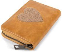 styleBREAKER Damen Mini Geldbörse mit Teddy-Fell Herz, Reißverschluss, Portemonnaie 02040130 – Bild 11