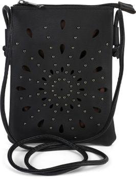 styleBREAKER Damen Mini Bag Umhängetasche mit Cutouts in Ethno Blumen Form und Nieten, Schultertasche, Handtasche, Tasche 02012304 – Bild 21